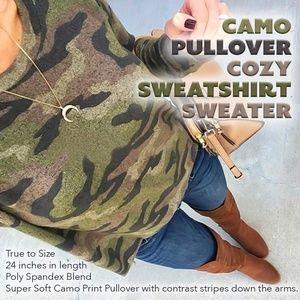 Camo Pullover Cozy Sweatshirt/Sweater
